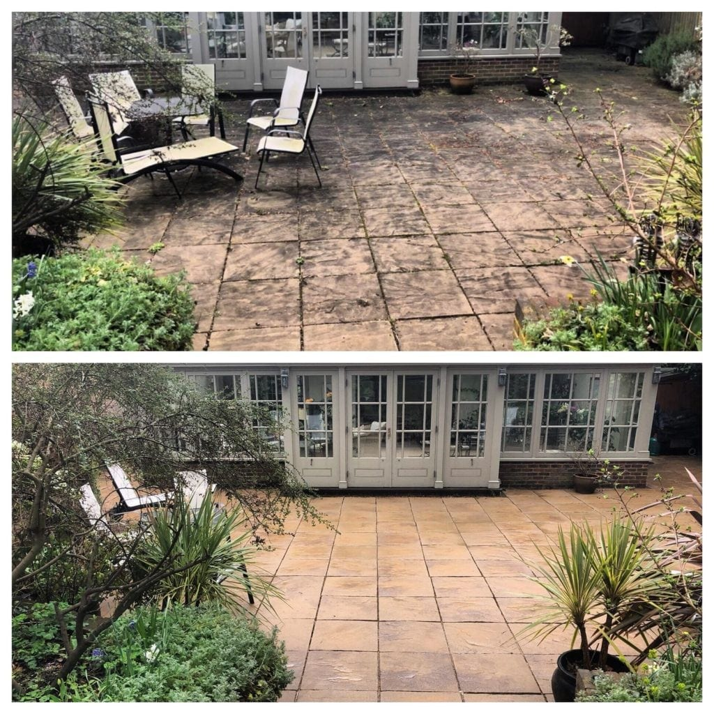 Patio Black Spot Removal Service - Pressure Cleaning Services