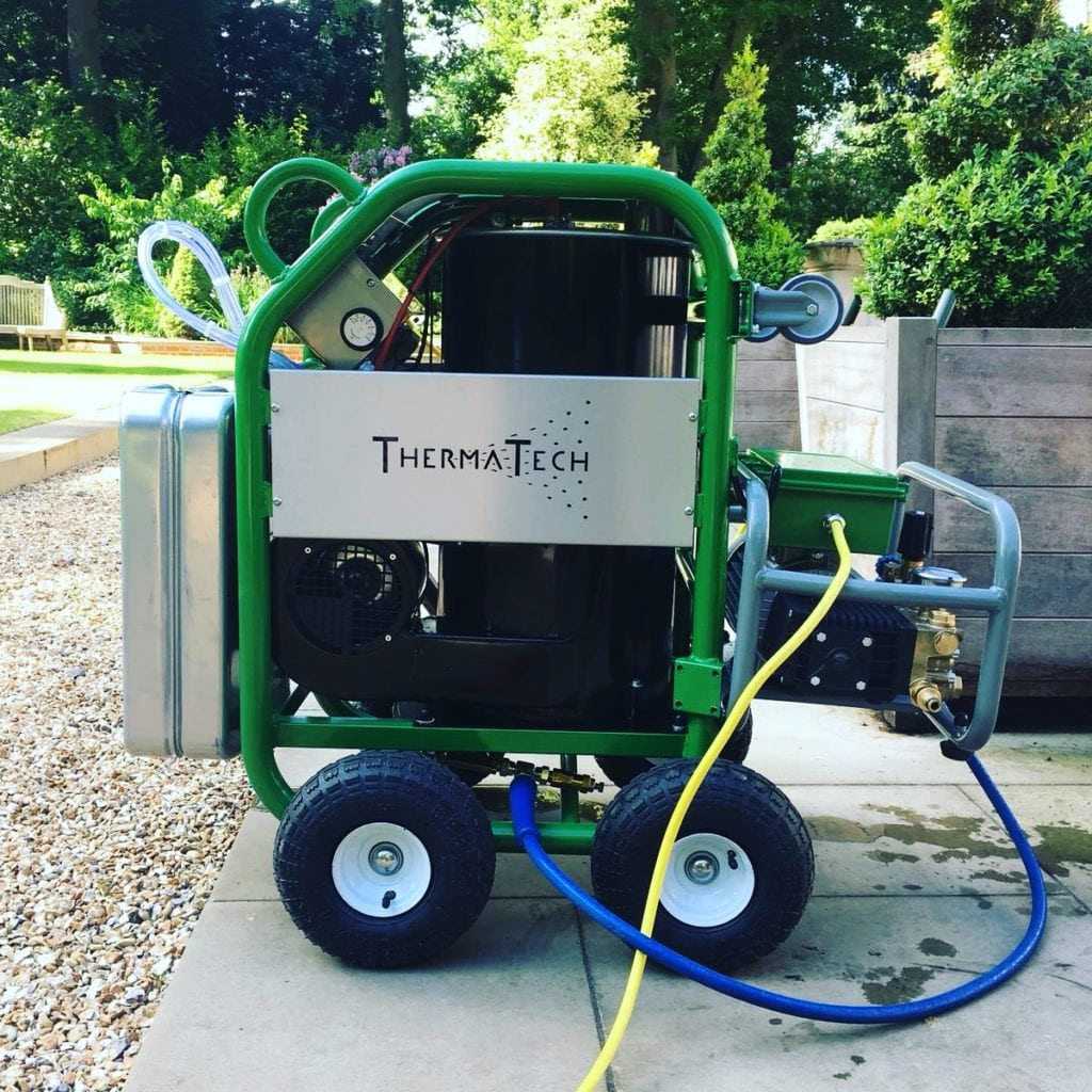 ThermaTech Cleaner is more effective than industrial steam cleaners or pressure cleaners and causes no damage to the surface