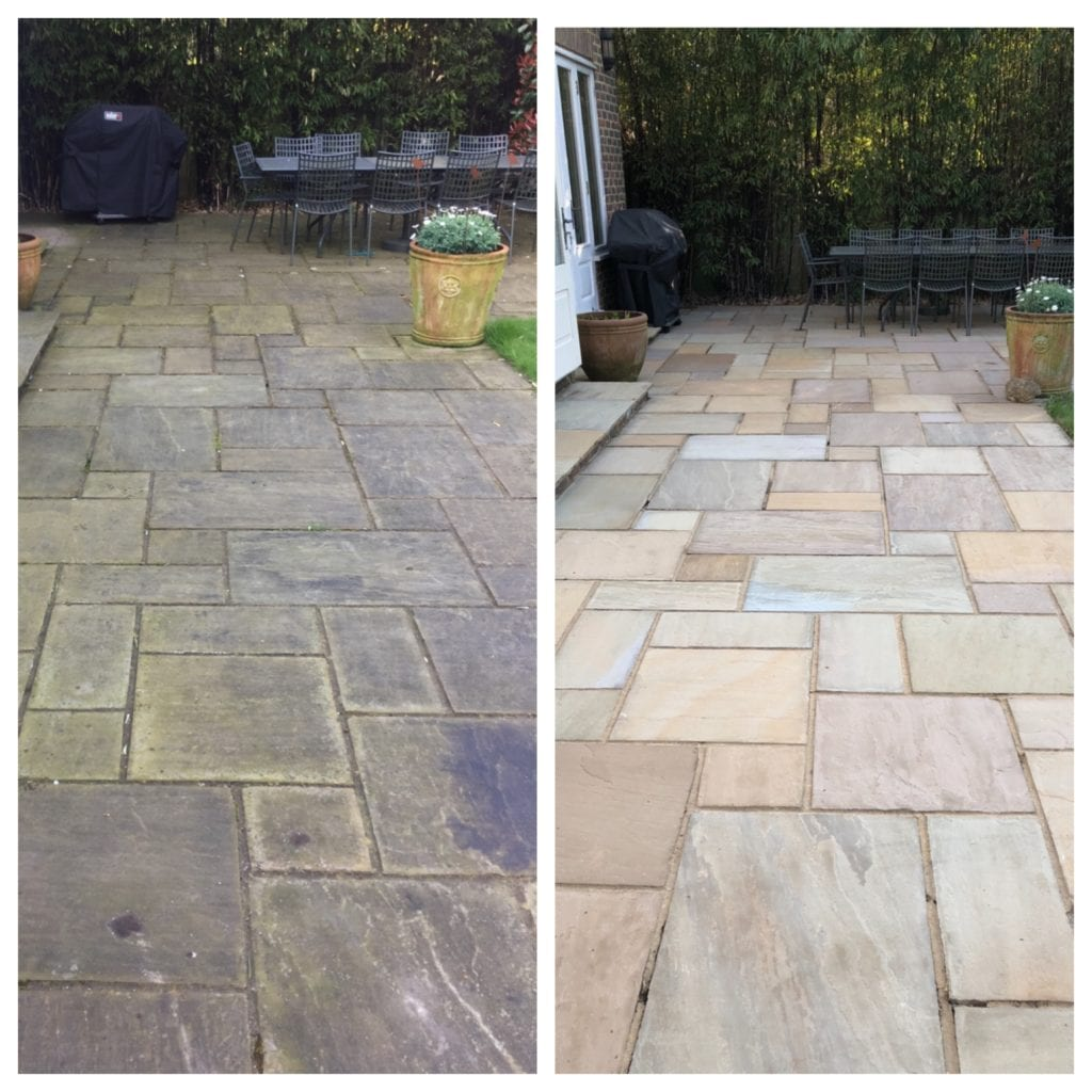 Indian sand stone black spot removal before and after Esher