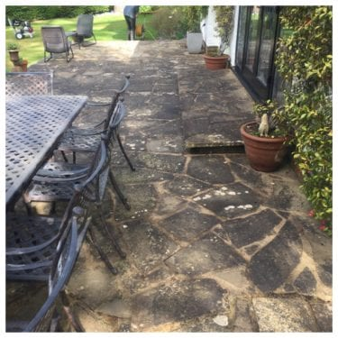 crazy paving patio black spot removal Hampstead, London NW3