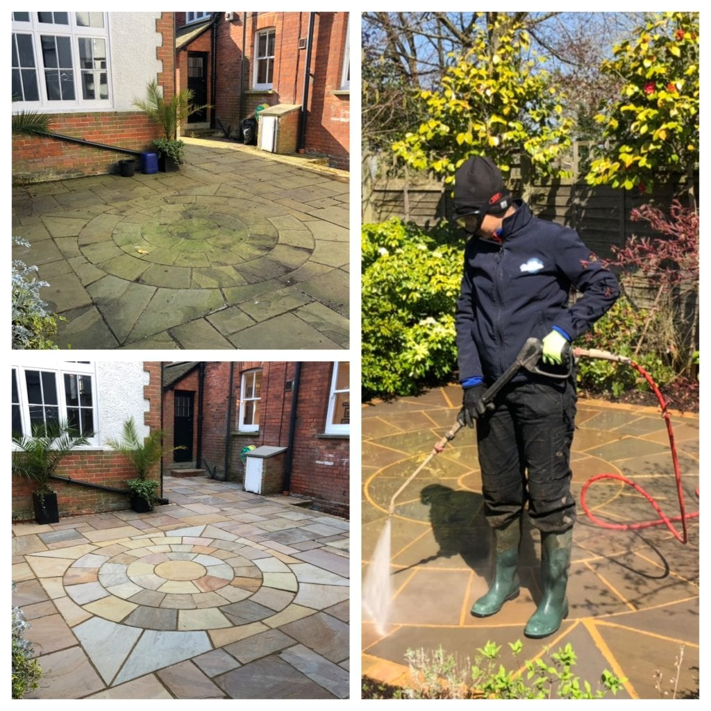 INDIAN SANDSTONE PATIO CLEANING