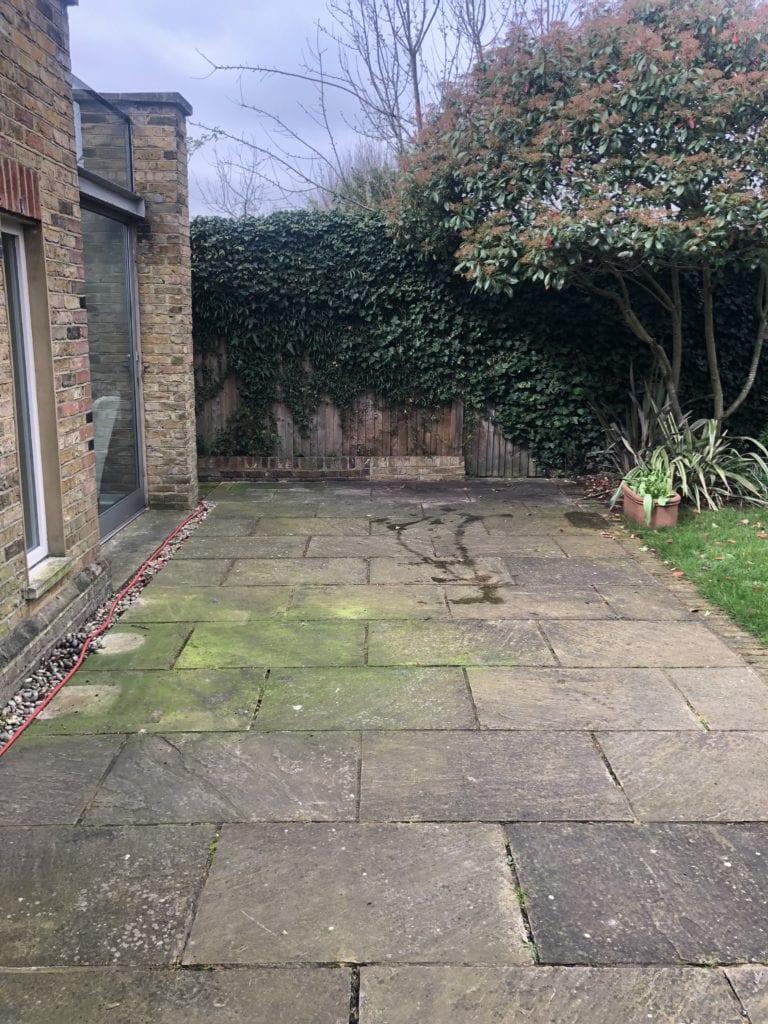 Indian sandstone patio steam cleaning Weybridge KT13