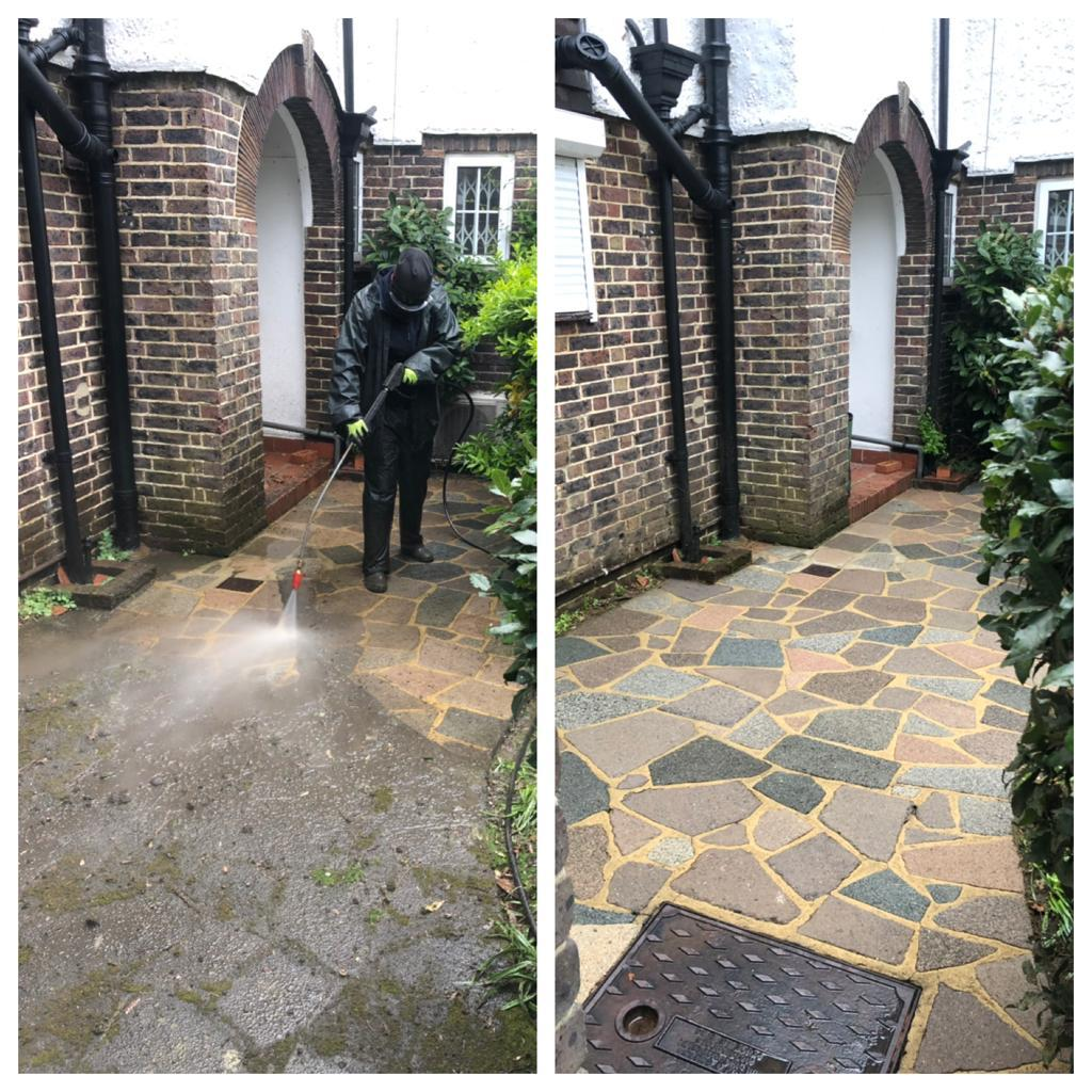 crazy paving patio steam cleaning