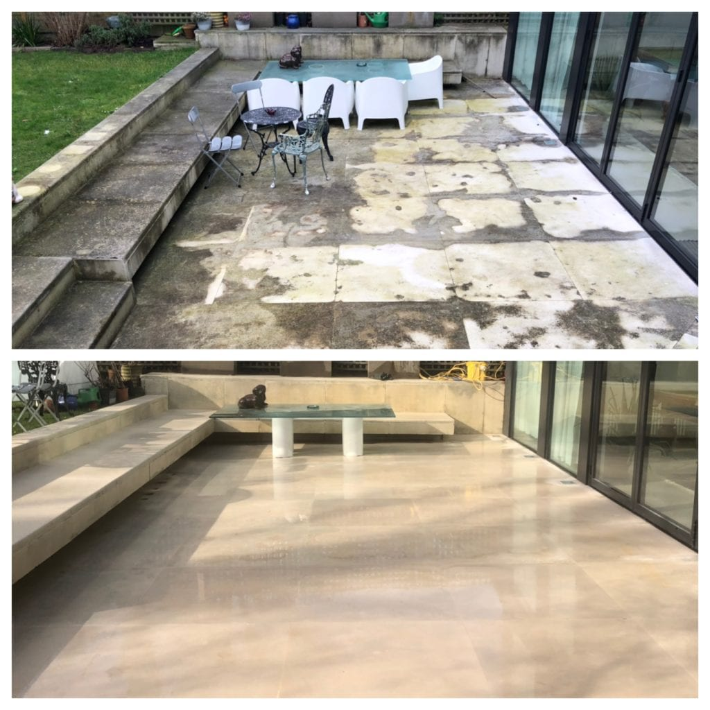 Portland stone patio cleaning services