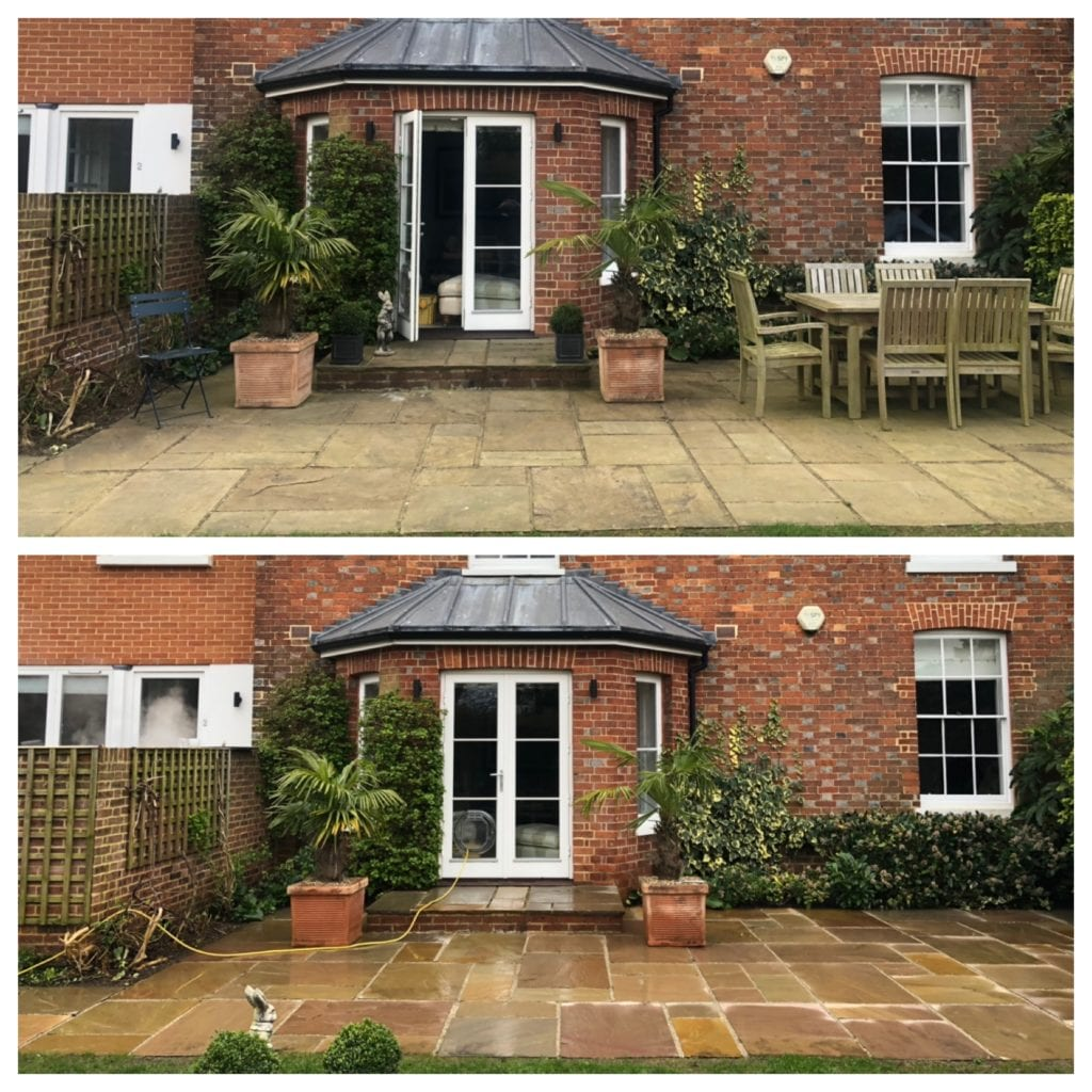 Indian sandstone patio cleaning tunbridge