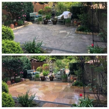 Patio steam cleaning London, belsise park NW3