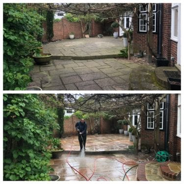 Feel the pressure UK patio cleaning & patio black spot removal service