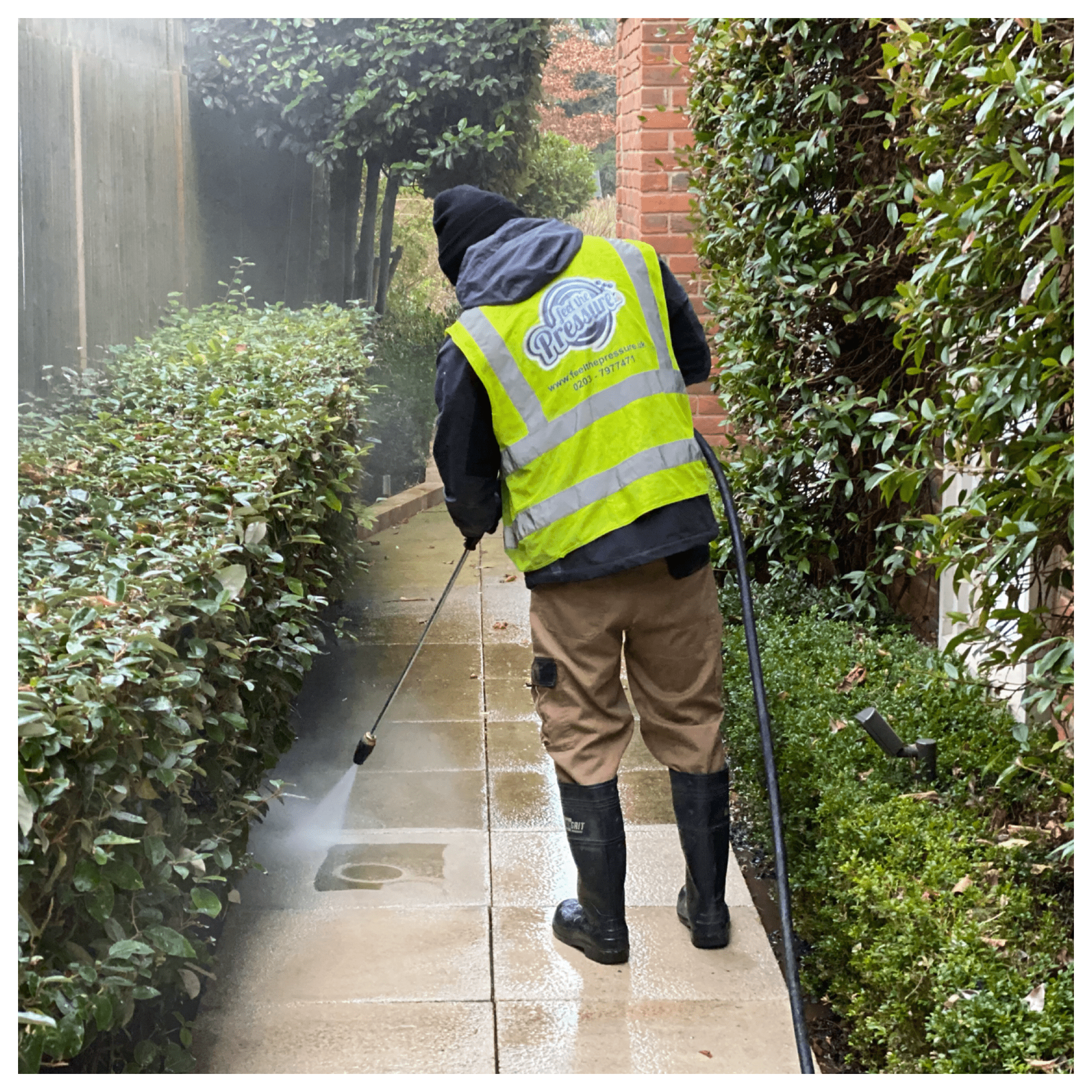 HIGH PRESSURE PATIO CLEANING