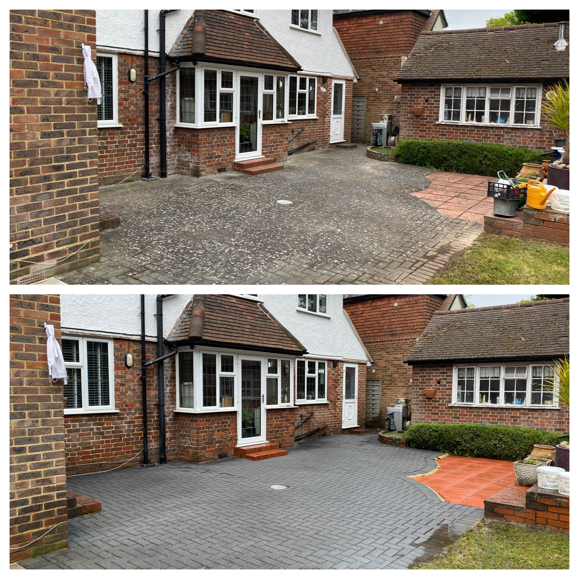 block paving patio cleaning in Surrey